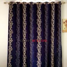 dark royal blue velvet insulated and thermal blackout curtains
