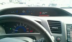 srs light honda civic side passenger airbag page 14