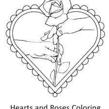give hearts roses coloring color luna