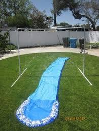 Backyard Slip N Slide Homemade Slip N Slide Film Gard 10 X 25 4 Mil Plastic Sheeting