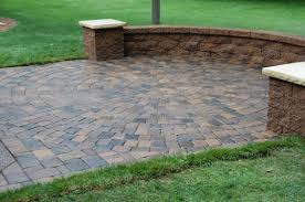 patio ideas patio block ideas with round brick ideas and green