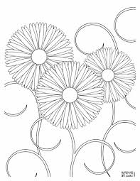 realistic flower coloring page free download
