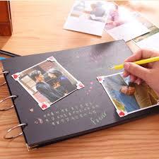 sticky photo album aliexpress buy ribbon boxed diy photo album