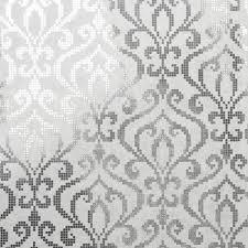 venus silver foil mini damask wallpaper contemporary wallpaper