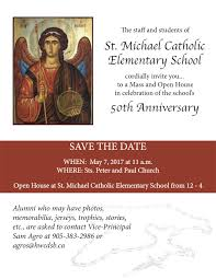 save the date sts st michael 50th anniversary