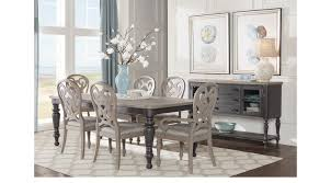 coastal breeze charcoal 5 pc rectangle dining room traditional