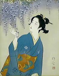 Japanese Flowers Paintings - japanese floral or flower paintings and prints 2 japanese