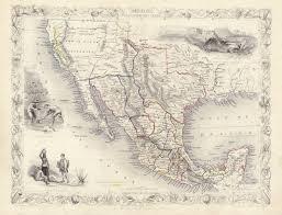 map of mexico and california antique map of mexico california and circa 1850