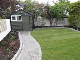 Garden Stone Ideas by Garden Path Walk Along Side Of Garden Bed Out To The Shed