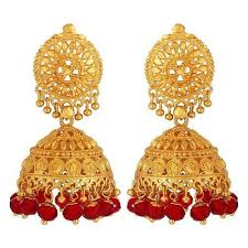 gold earrings jhumka gold earrings at rs 18025 pair sone ki baliyan