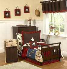 western theme cowboy toddler boy comforter bedding 5pc bed in a