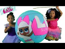 Lol Blind Giant Lol Surprise Baby Dolls In Giant Blind Bags Ball Youtube