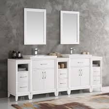 84 Bathroom Vanity Fresca Cambridge White 84 Inch Double Sink Traditional Bathroom