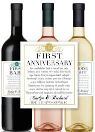anniversary wine bottles marriage milestones poems wedding gift wine chagne by lushlabel