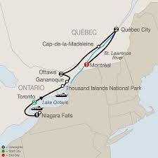Toronto Canada Map by Eastern Canada Escorted Tour U0026 Cruise Globus