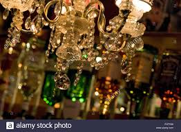 Pub Light Fixtures by Chandelier Crystals Lampshades And Lamp Sparkling In A Pub With
