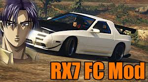 Gta 5 Pc Mods Mazda Rx7 Fc Do You Even Initial D Bro Youtube