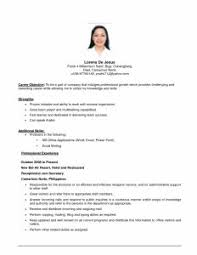 Objective Statements For Resumes Examples by Examples Of Resumes Best Resume Advice Sample Cv Format Building