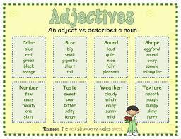 adjectives mrs warner u0027s 4th grade classroom