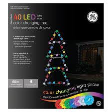 ge color effects led color changing christmas lights shop ge 60 animatronic multicolor led color effects tree at lowes com