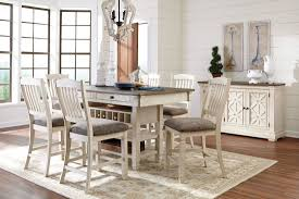 Counter High Dining Room Sets by Bolanburg White And Gray Rectangular Counter Height Dining Room
