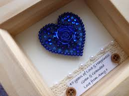 65th wedding anniversary gifts 45th wedding anniversary gift 45th anniversary gift sapphire
