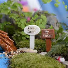 new house ornaments mini forest signs diy craft world garden