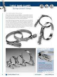 spring loaded t bolt band clamps clampco pdf catalogue