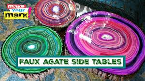 faux agate side table faux agate side tables youtube