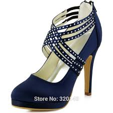 wedding shoes navy blue women high heel shoes wedding platform navy blue cross