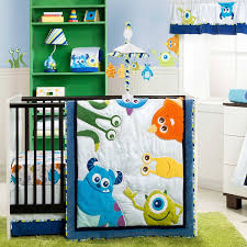 Baby Boy Bedding Themes Amazon Com Monsters Inc 4 Piece Baby Crib Bedding Set By