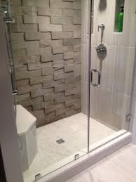 Showerroom Small Shower Room With Frameless Door Feature 3d Surface Tiles