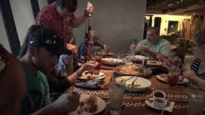 family dinner at ohana at disney u0027s polynesian resort youtube