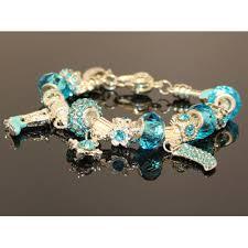 pandora style charm bracelet images Athenafashion 925 sterling silver plated turquoise crystal jpeg