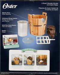 oster 4 quart wood bucket ice cream maker frstic wdb 001