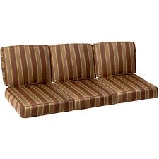 Replacement Sofa Cushions by Three Pieces Outdoor Cushion Sets With Brown Striped Pattern With