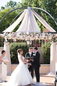 wedding altars luxe outdoor wedding at loews portofino bay hotel in orlando fl