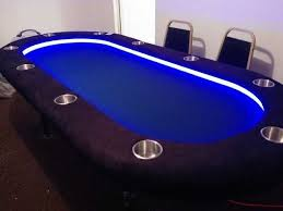 how to make a poker table diy lighted raised rail poker table imgur poker table