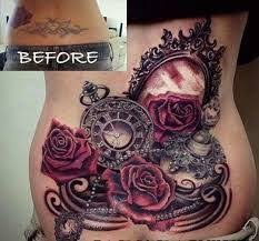 image result for lower back cover ups tattoos