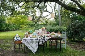 Outdoor Wedding Furniture Rental by Alice In Wonderland Bridal Tea Party Usf Botanical Gardens