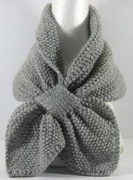 knitting pattern bow knot scarf pale blue keyhole scarf pull thru ascot scarf pastel blue knit