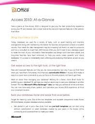 tutorial microsoft access 2010 product guide final