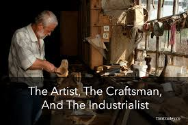 craftsman the artist the craftsman and the industrialist
