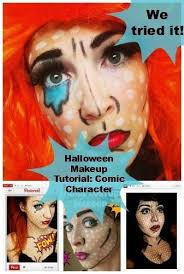 Comic Book Character Halloween Costumes 119 Comic Book Makeup Images Comic Book Makeup