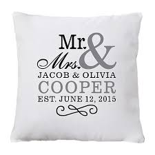 mr and mrs pillow personal creations personalized mr mrs pillow 7830829 hsn