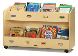 2 tiered children u0027s book cart display jonti craft single sided