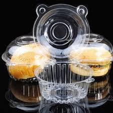 online get cheap disposable cupcake containers aliexpress com free shipping 100pcs clear plastic single cupcake cake case muffin dome holder box container china