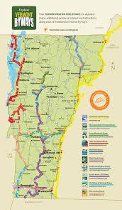 Map Vermont Vermont Byways