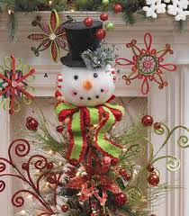 snowman christmas tree raz snowman tree topper and lighted top hat on