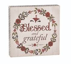 jim shore blessed and grateful box sign clearance